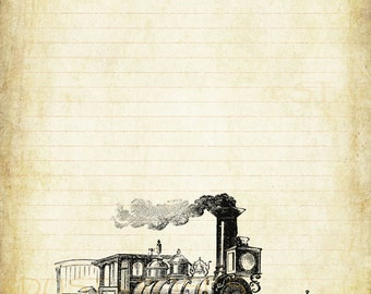 train writing paper This train engine writing paper worksheet is suitable for 1st - 2nd grade in this writing worksheet, students use a train engine shaped paper with 3 primary lines for any word study.