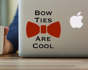 Doctor Who Decal, Bow Ties Are Cool Decal, Whovian Decal, 11th Doctor, Doctor Who Bow Ties, Matt Smith, Eleventh Doctor, yeti tumbler decal
