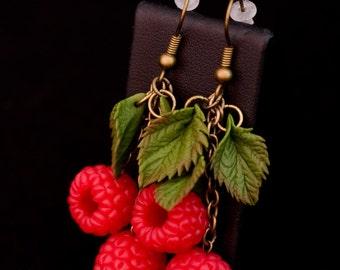 """Earrings """"raspberries"""""""