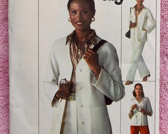 Vintage 1970s Misses Unlined Cardigan and Pants Pattern / Simplicity 7615 Sewing Pattern - UNCUT / Leisure Suit Style