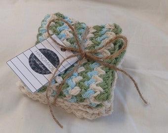 Crochet Washcloths/Dishcloths Pack of 2