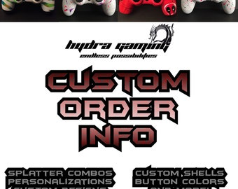 Custom PS4 Controller Custom Xbox One Controller Information