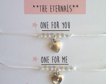 "Bracelets ""Eternal Gion Eternals"" Duo / friendship / child child - Creation of sparkle"