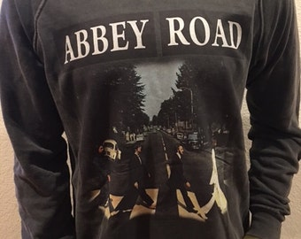 The Beatles Abbey Road Vintage Washed Designer Sweater! S, L
