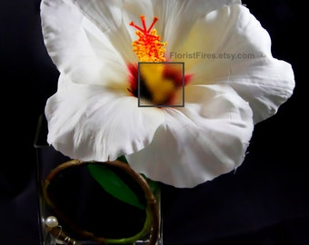 Hi-dick-sus™ Hibiscus Penis French Tickler Long Stem Flower Wedding Decoration Bachelor Bachelorette Party Silk Flower Accessory