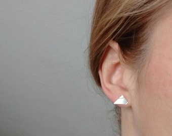 Geometric Silver Mountain studs | Sterling silver Studs