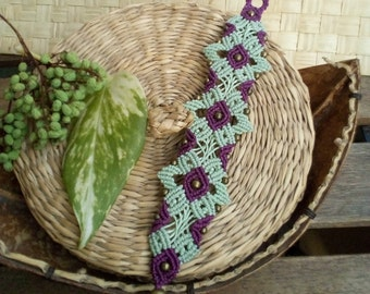 Bracelet Bangle of macrame woman boho tribal micromacrame jewelry gift Christmas macrame jewelry gift woman