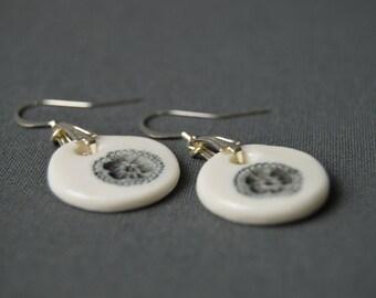 """""""Little Neroli"""" ears, porcelain, ceramic jewel earrings"""
