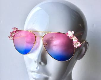 Pink to Blue Ombre sunglasses