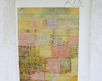 Paul Klee, abstract art,  poster, Vintage poster, abstract expressionism, 1985 Original Poster, home decor, art print, fine art, modern art