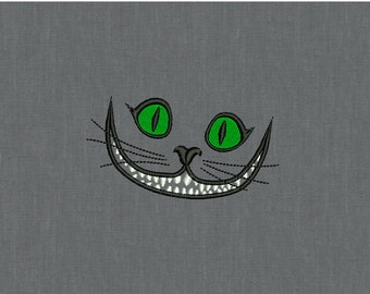 Cheshire Cat - Machine embroidery design - 2 sizes for instant download