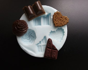Mold silicone rubber Chocolates To Fimo or resin!