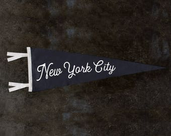 New York City Vintage Style Wool Pennant 9x27 | NYC Gifts