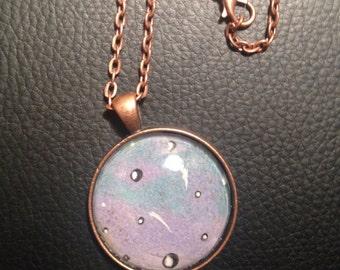 Necklace Pendant 'Planet Blue'