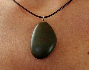 Natural stone pendant necklace handcrafted 10/16-32