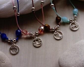what's your sign? - zodiac sign macrame bracelet (virgo, libra, scorpio, sagittarius)
