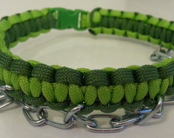 Beautiful Green paracord collar - BDSM - S & M and kinky fetish play - Submission Domination play