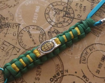 Captain Planet Charm Paracord Keychain with Karabiner