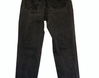 SALE - Black High Waisted Denim Pants