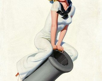 Vintage Pin Up Girl 162 Pinup Poster  A3 Print