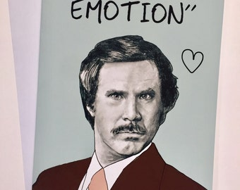 Ron Burgundy - Anchorman A5 Card