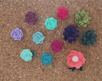 Push Pins || Set of 3-6-9-12 || Flower push pin || Thumbtack || Flower thumbtack || Teacher gift || Flower accessories || Educator gift ||