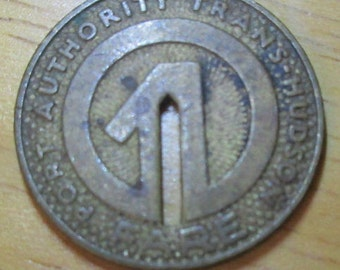 Vintage Port Authority Trans Hudson New York New Jersey Path Token