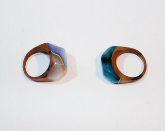 acrylic and wood ring