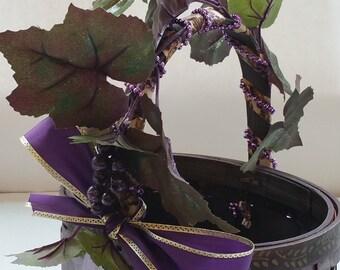 "Small Wine Gift Basket ""La Piccola Vita"" ""Little Gems Series"" ""AMETHYST"""