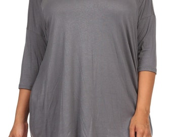 Solid Relaxed Tunic Plus Cement