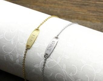 Same day shippinghebrew name bracelethebrew letters same day shipping til 3 pm estbabychildren name bar bracelet negle Image collections
