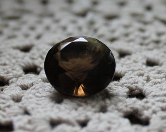 Faceted Smokey Quartz From Brazil