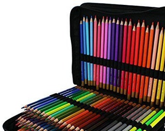 Pencil storage case for 150 pencils, pens or crayons Zippered organizer holder - Pencil organization - This is how to store colored pencils