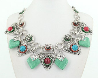 Vintage Style Bohemian Statement Necklace