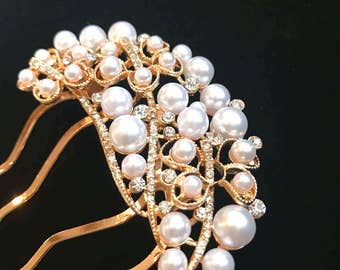 bridal Hair Accessories, Pearl Hair Comb, Wedding Hair