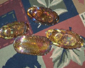 vintage carnival glass bowls/dish