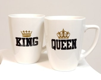 King and Queen, His and Hers mugs