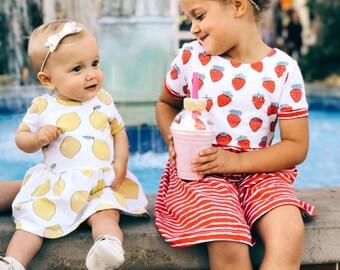 Strawberry Striped Dress