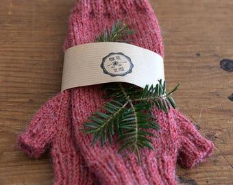 100% Wool & Alpaca Hand Knitted Fingerless Gloves, Handwarmer Mittens, Knitted Wrist Warmers, Arm Warmers, Gift Idea