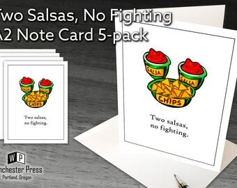 Fiesta Party Invitations, Chips and Salsa Note Cards, Mexican Dinner Party Invitations Birthday Party Anniversary Dinner, Fiesta Invitation