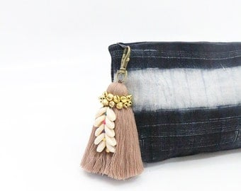 Tassel Keychain With Cowrie Shells & Bells / Bag Accessories