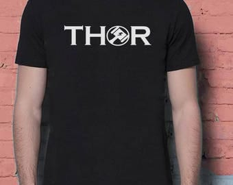 Thor Mjolnir Minimalist Prince Of Asgard Marvel Movie Inspired. Male and Female T-shirt