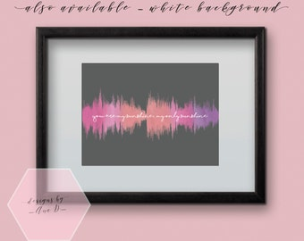 My Sunshine Nursery Sound Wave Art Digital File - Water Colour Print for baby nursery, kids room or home