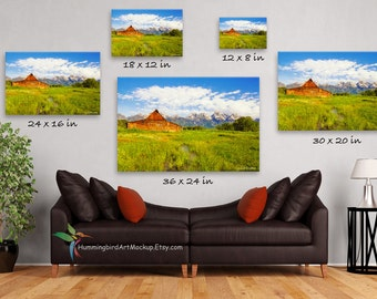 PSD FILE Canvas Wall Art Mockup Template Styled Stock Photography 3 To 2