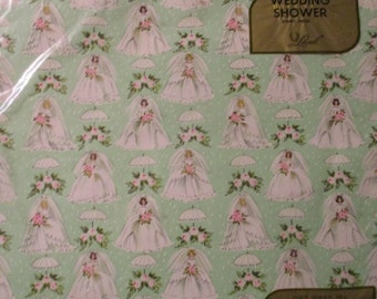 Vintage Wrapping Paper - Shower Brides