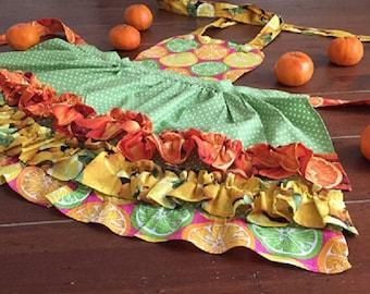 Citrus Meringue Girl's Apron