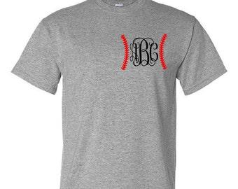 Monogram Baseball Tshirt