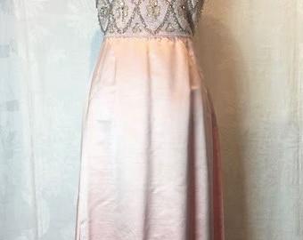 108. VINTAGE- Sequin Bodice Gown