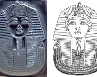 tutankhamen king tut egyptian inspired printing stamp