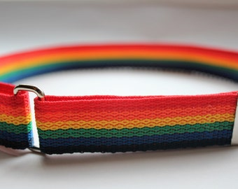 Rainbow or Solid Color - Child/Toddler Adjustable Velcro Belt